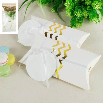Gold foil Chevron Pillow boxes