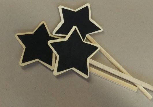 Star chalkboards, packet of 6