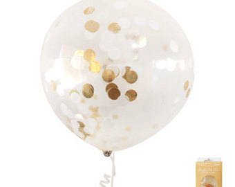 Giant gold foil confetti balloon