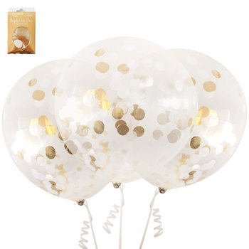 45cm gold confetti balloons, pack of 3