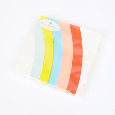 Meri Meri Scalloped Rainbow napkins