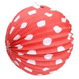 Red and White Polka Dot Hanging Lantern