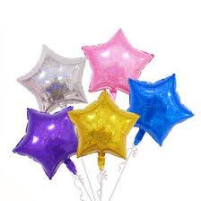 3x 20 inch Star Hologram Balloons