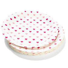 Pink heart plates