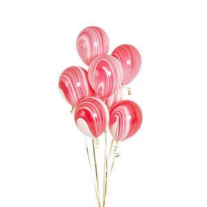 Qualatex Red and White Marble Balloons