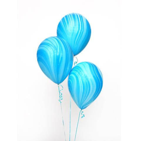 Qualatex Blue Marble Balloons