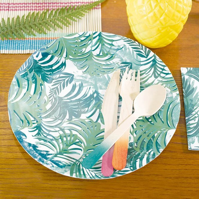 Talking Tables Tropical Jungle Leaf Plates