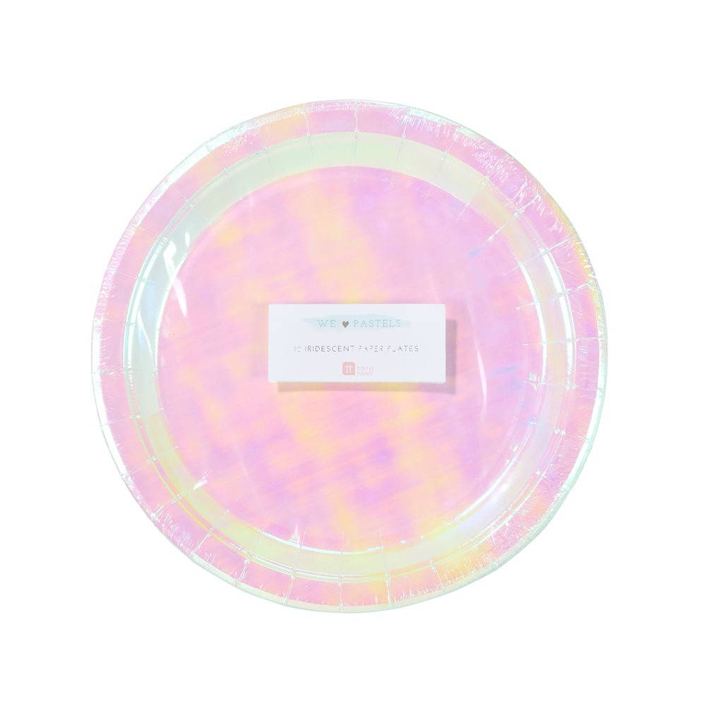 Talking Tables Iridescent Pink Plates