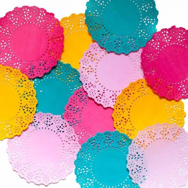 Talking Tables Floral Fiesta Lace Doilies