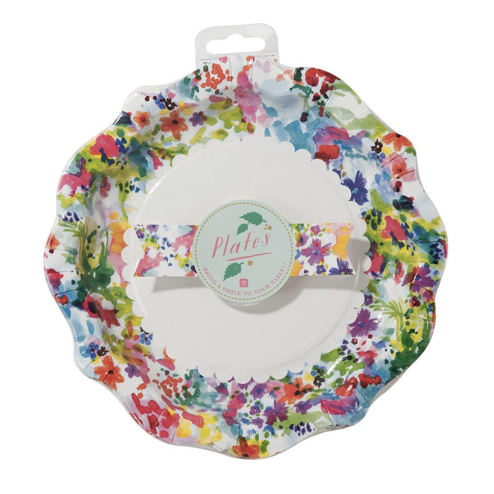 Bright Floral Paper Plates