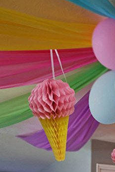 Ice cream Honeycomb Decorations