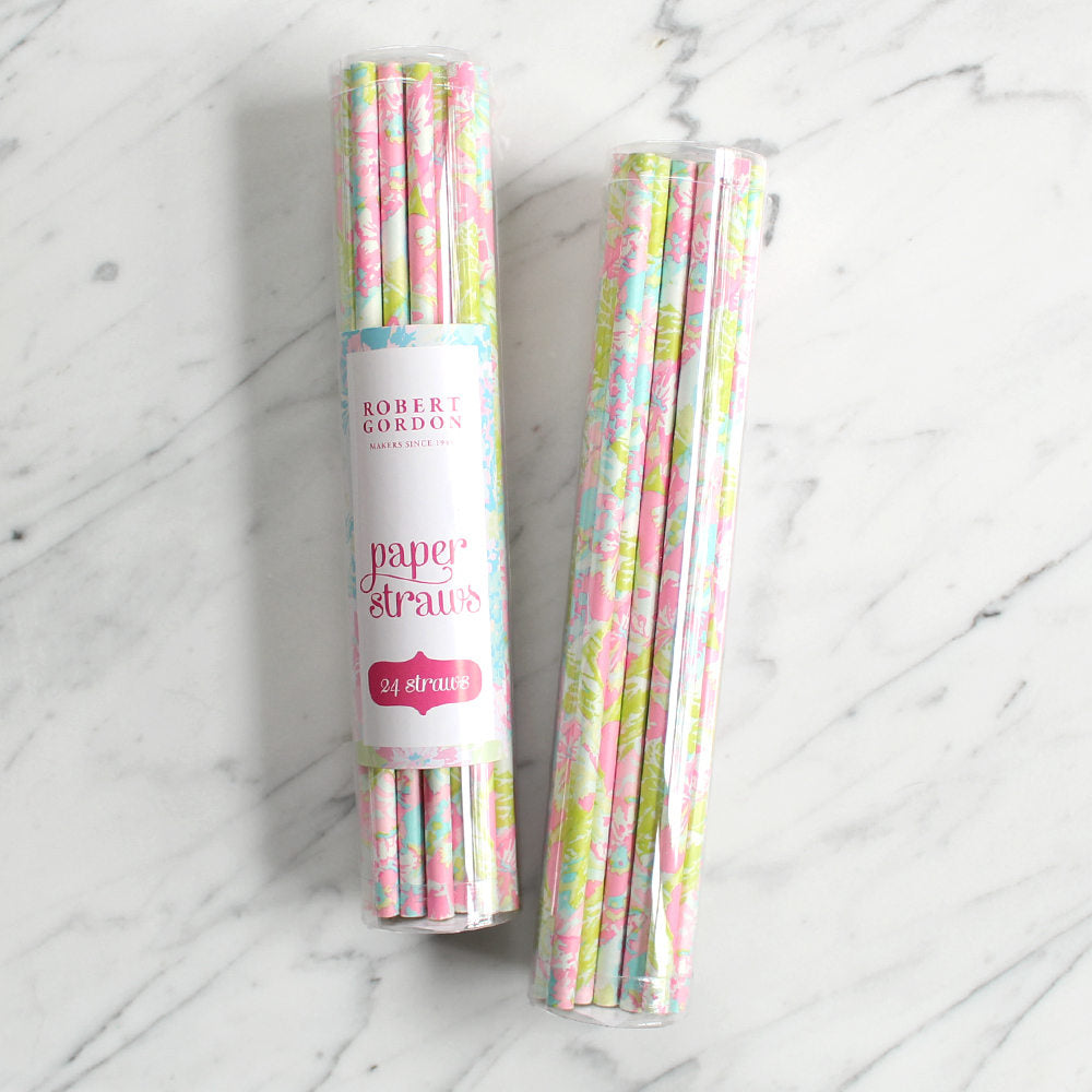 Robert Gordon Floral Vintage Drink Straws