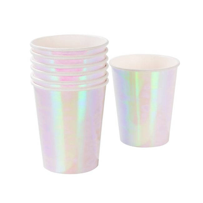 Pink Iridescent cups