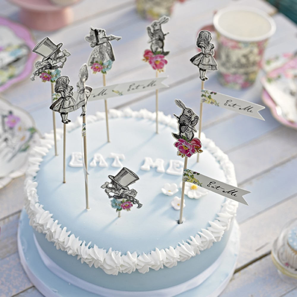 Talking Tables Truly Alice Cake Toppers