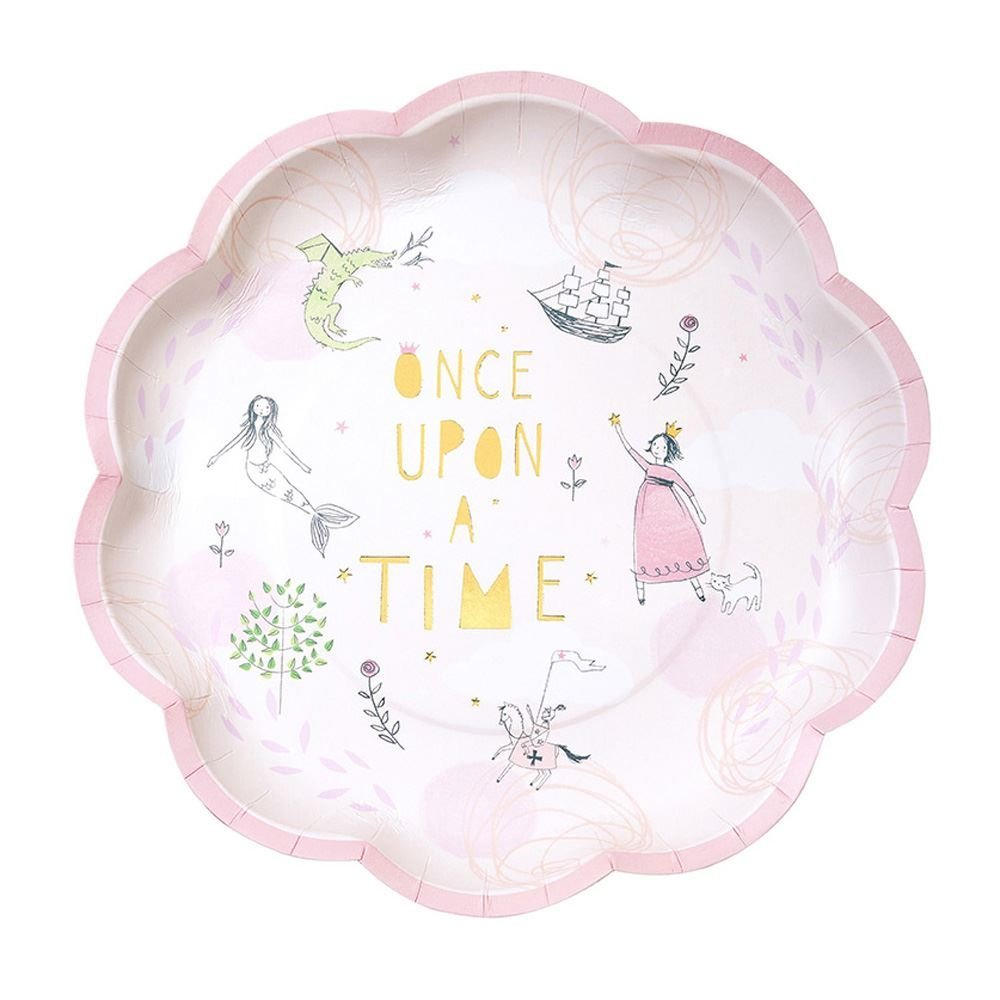 Talking Tables Pink Fairytale Plates