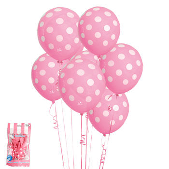 Pink polka dot balloon