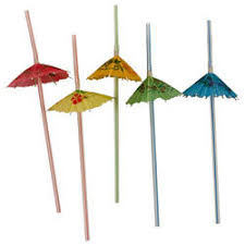 Tropical Umbrella Straws