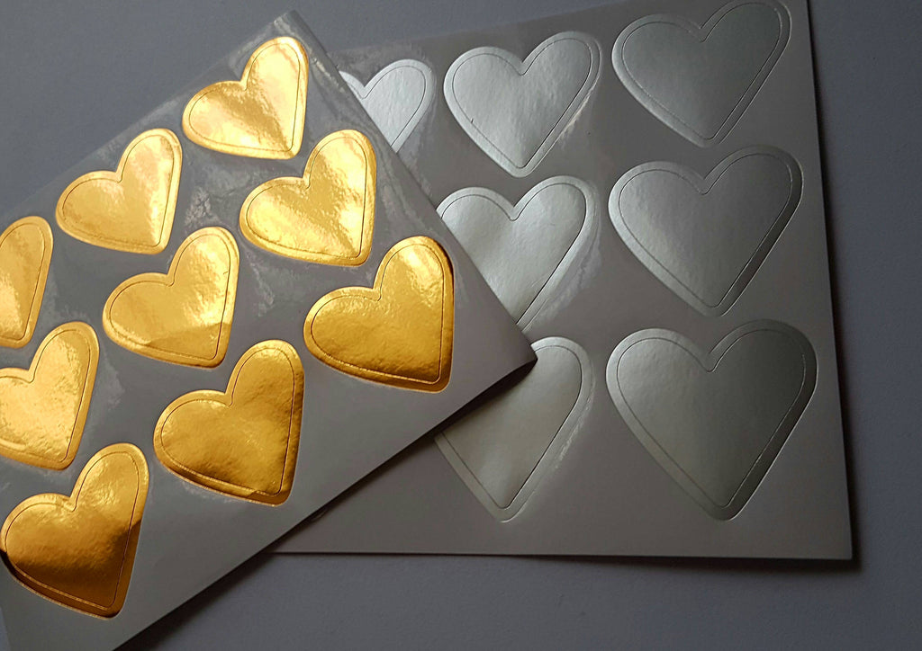 Metallic Heart stickers