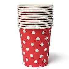 Red and White Spot Paper Cups