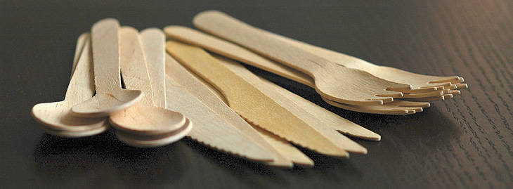 Wooden cutlery, packs of 50