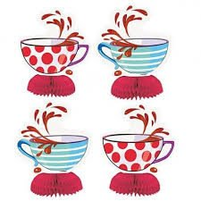 Mad Hatter Tea Cup Centrepiece Decoration