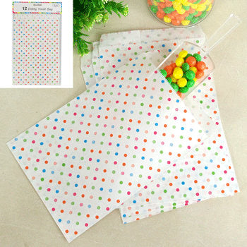 Rainbow party dotty bags