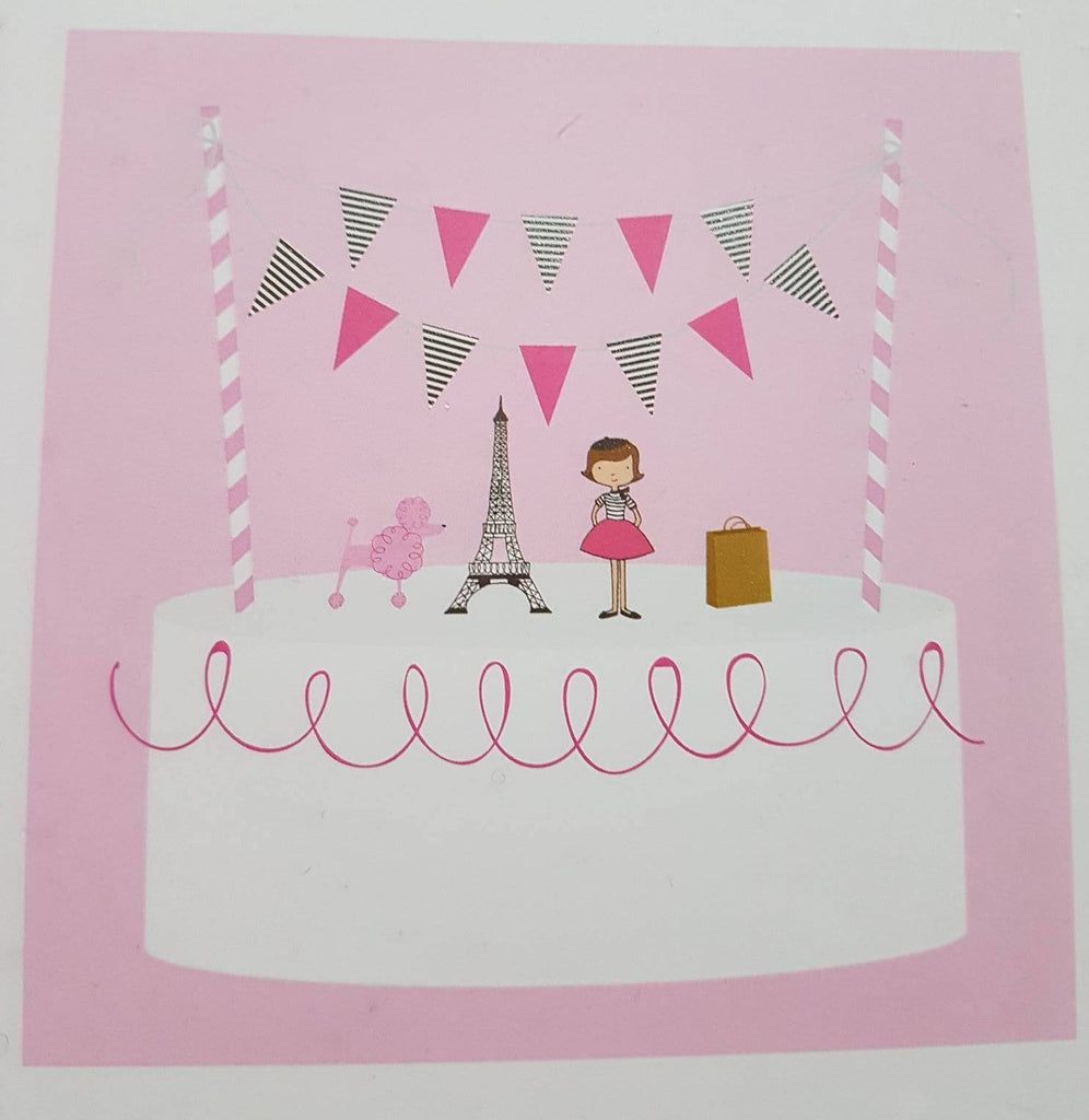 Paris Theme Cake Bunting