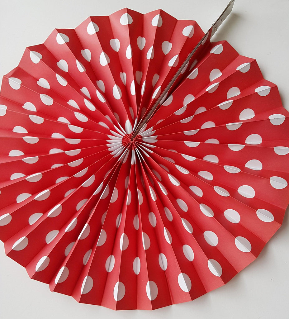 Red and White Polka Dot Pinwheels