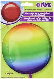 Bright Ombre Rainbow Balloon