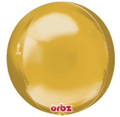 Metallic Gold Orbz Balloons