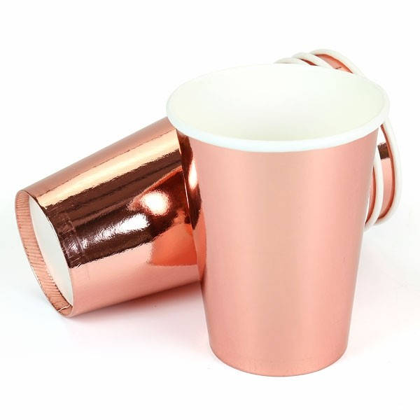 Rose Gold Paper Party Cups