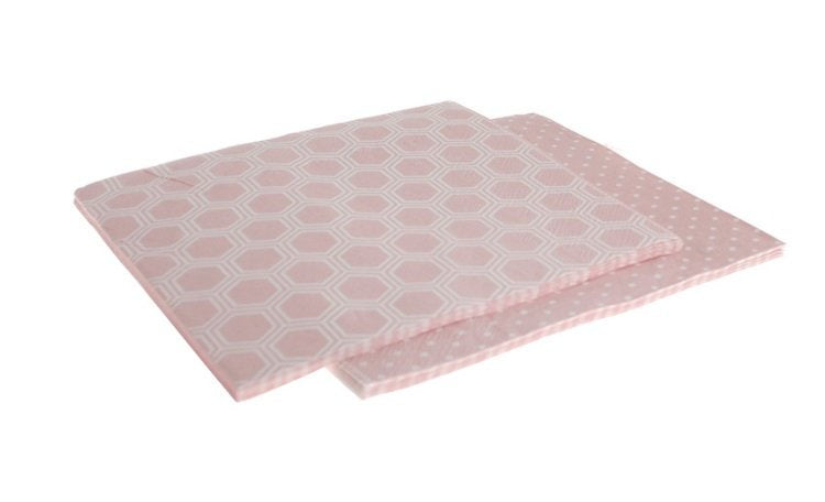 Pink Honeycomb Pattern Napkins