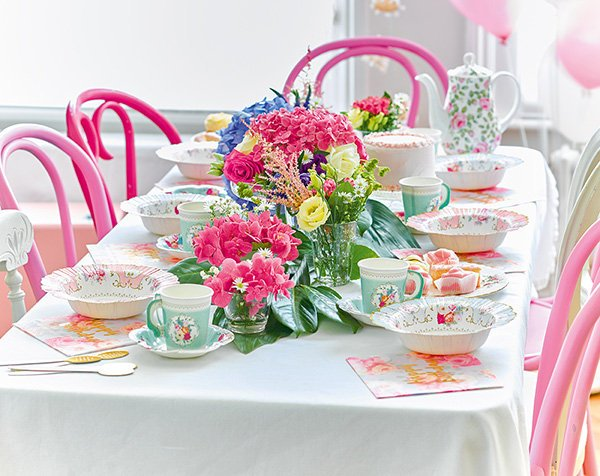 Talking Tables Coral Floral Straws