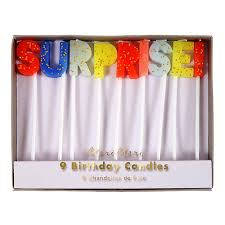 Meri Meri Birthday Surprise candles