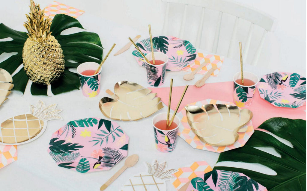 Meri Meri Pink Tropical Toucan Cups
