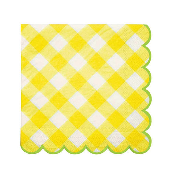 Meri Meri Yellow Gingham napkins