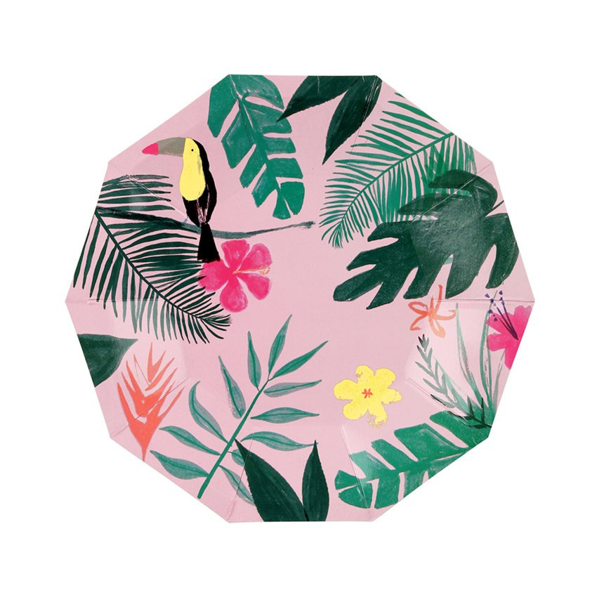 Meri Meri Tropical Toucan Plates
