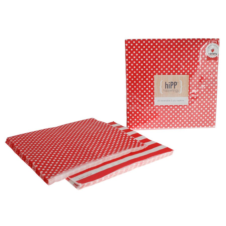Red and White Polka Dot Napkins