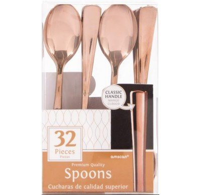 Rose Gold Spoons, 32 pieces