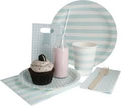 Hipp Striped Egg-Shell Blue Paper Cups