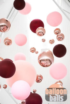 Rose gold balloon balls