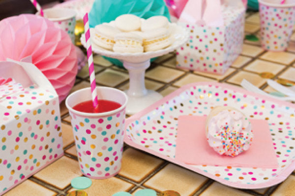 Pink and Gold Party cups