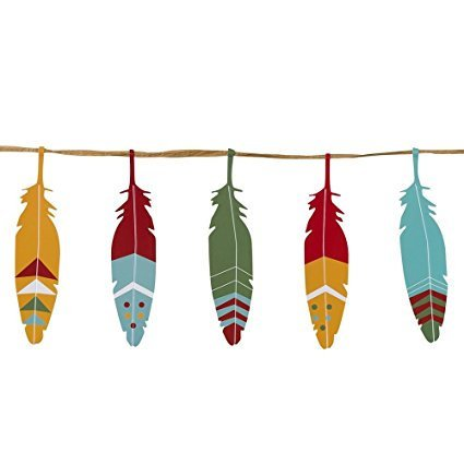 Talking Tables Wild West Feather Garland
