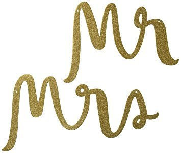 Kate Spade Mr and Mrs Wedding signs