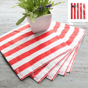 Red and White Striped Napkins