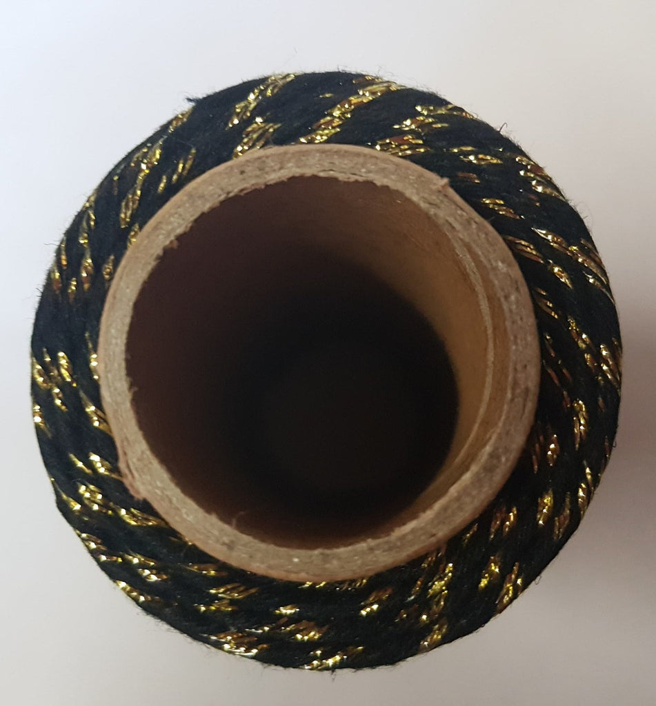 Bakers twine black and gold