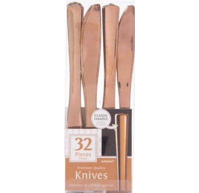 Rose Gold Knives, 32 pieces