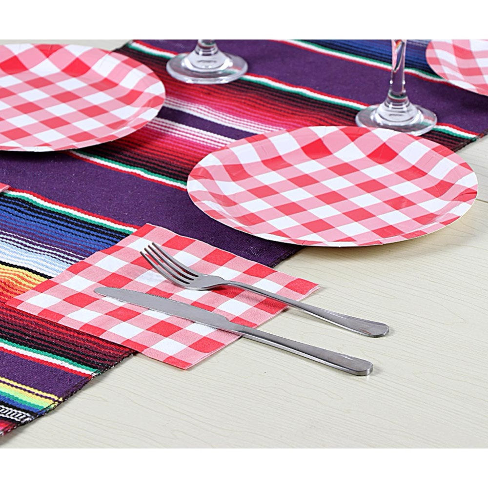 Red and White Check Napkins