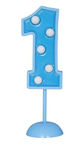 1st Birthday Blue Light Up Cake topper