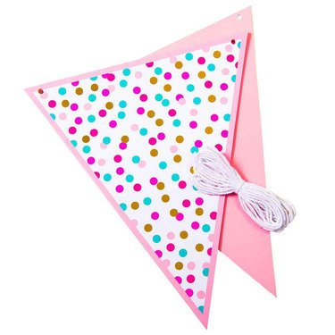 Five Star Pink and Gold bunting